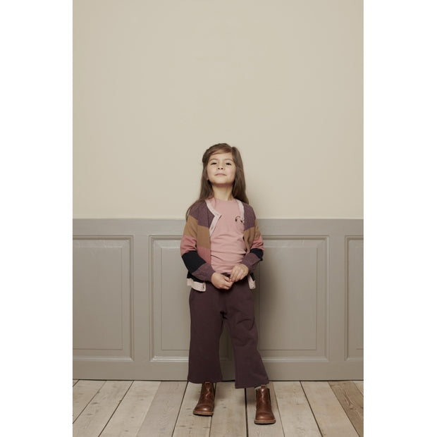 Wheat Cropped Sweatpants Sole Trousers 3374 soft eggplant
