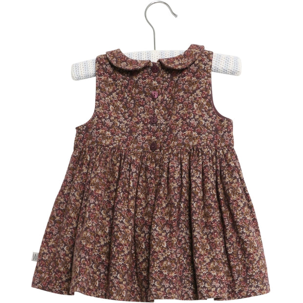 Wheat Dress Eila Dresses 3379 soft eggplant flowers