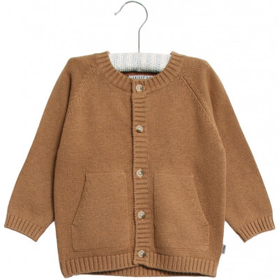 Wheat Knit Cardigan Classic Knitted Tops 5073 caramel