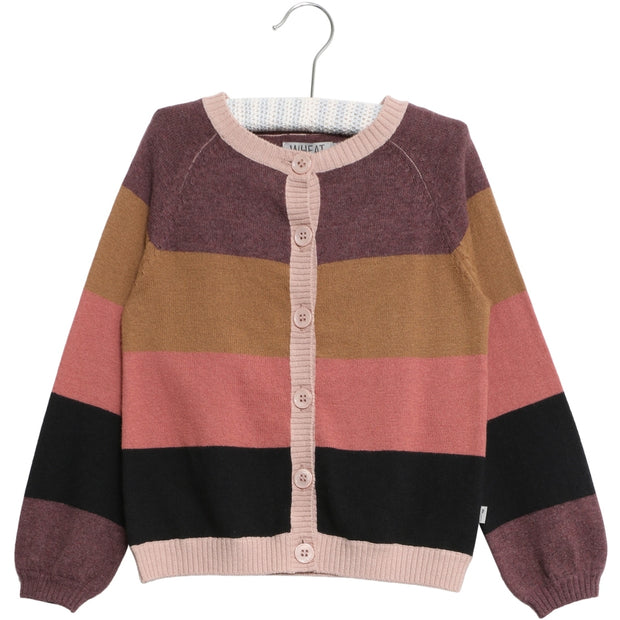 Wheat Knit Cardigan Emilia Knitted Tops 0180 stripe