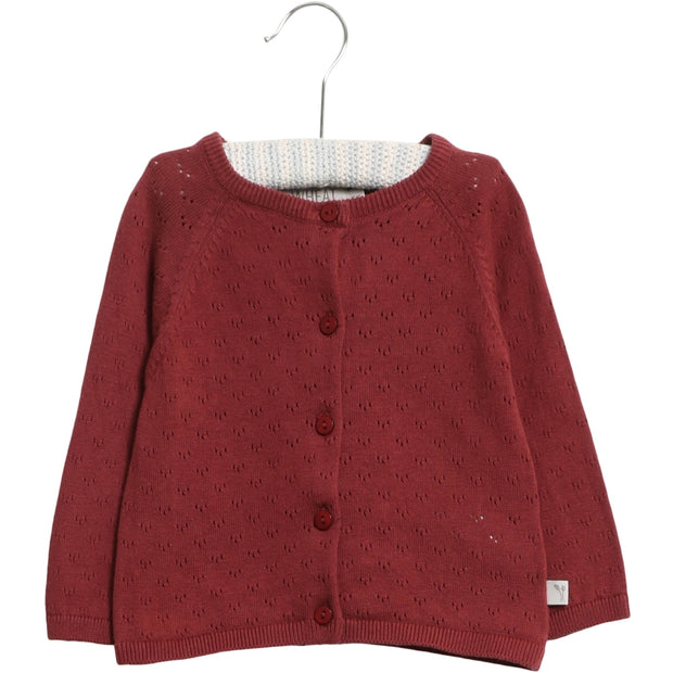 Wheat Knit Cardigan Maja Knitted Tops 2105 burgundy