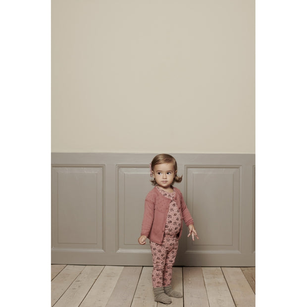 Wheat Knit Cardigan Olefine Knitted Tops 2531 rouge
