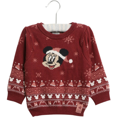 Disney/Marvel Knit Pullover Minnie Knitted Tops 2105 burgundy