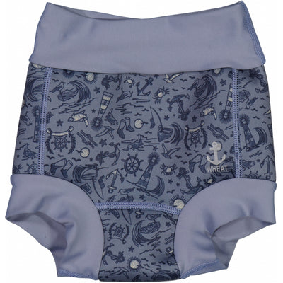Wheat Neopren badebukse Swimwear 9060 flintstone sealife