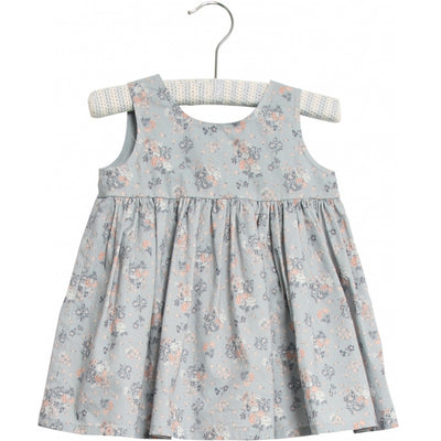 Wheat Pinafore Wrinkles Dresses 1486 pearl blue flowers