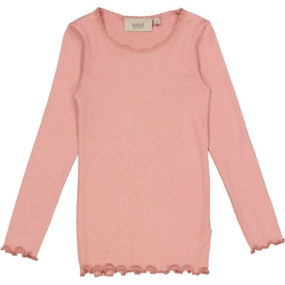 Wheat Ribbet T-skjorte Lace LS Jersey Tops and T-Shirts 2024 rosie