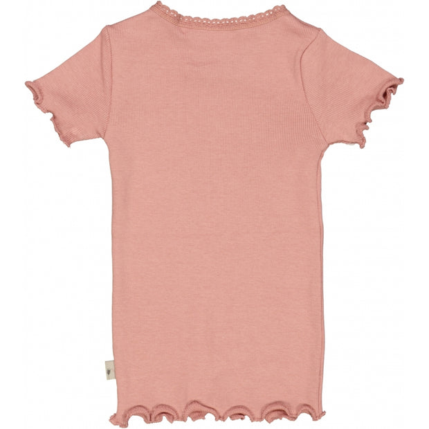 Wheat Ribbet T-skjorte Lace SS Jersey Tops and T-Shirts 2024 rosie