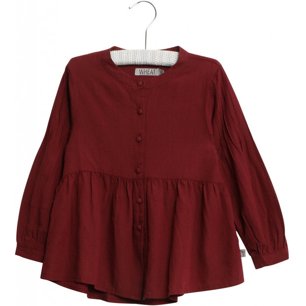 Wheat Shirt Julie Shirts and Blouses 2105 burgundy