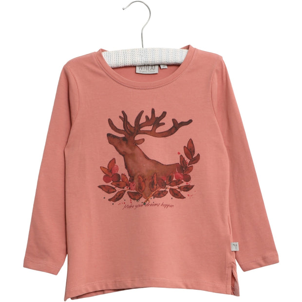 Wheat T-Shirt Deer Jersey Tops and T-Shirts 2607 soft rouge