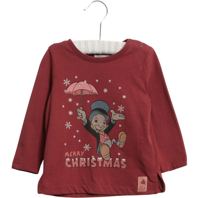 Disney/Marvel T-Shirt X-Mas Snow Jersey Tops and T-Shirts 2105 burgundy