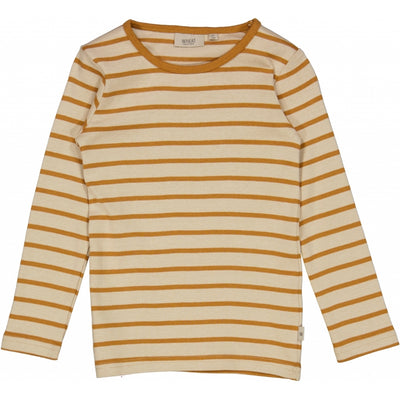 Wheat T-skjorte Striped LS Jersey Tops and T-Shirts 4341 almond