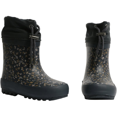 Wheat Outerwear Thermo Rubber Boots Rainwear 1293 greyblue flowers