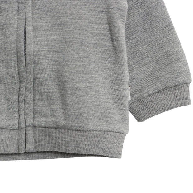 Wheat Wool Wool Sweat Cardigan Sweatshirts 0224 melange grey