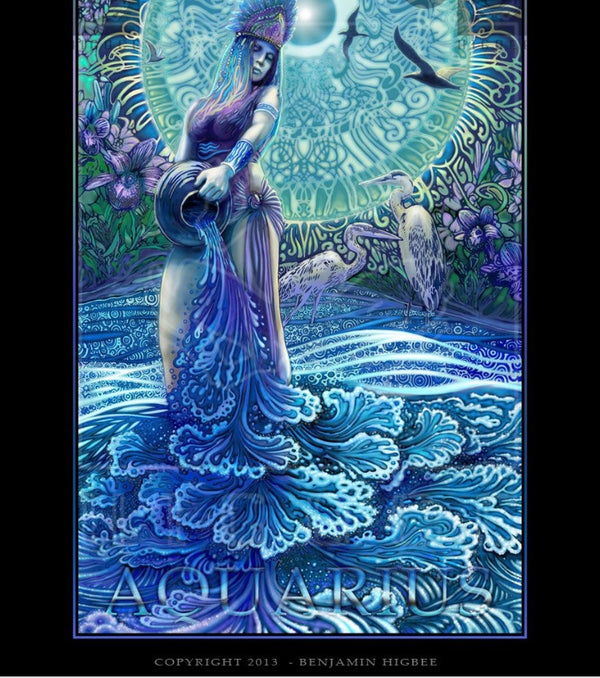 February in Aquarius. The Water Bearer Looking into the Remedy