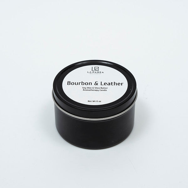 Bourbon & Leather Soy and Shea Aromatherapy Candle