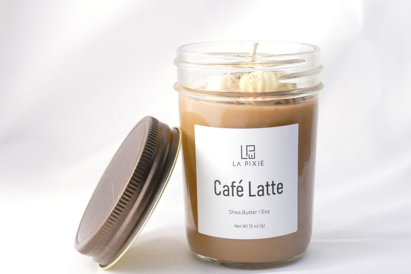 Cafe Latte Mason Jar Soy Candle - LAPIXIE WELLNESS