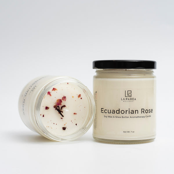 Ecuadorian Rose Scented Luxury Soy Candle