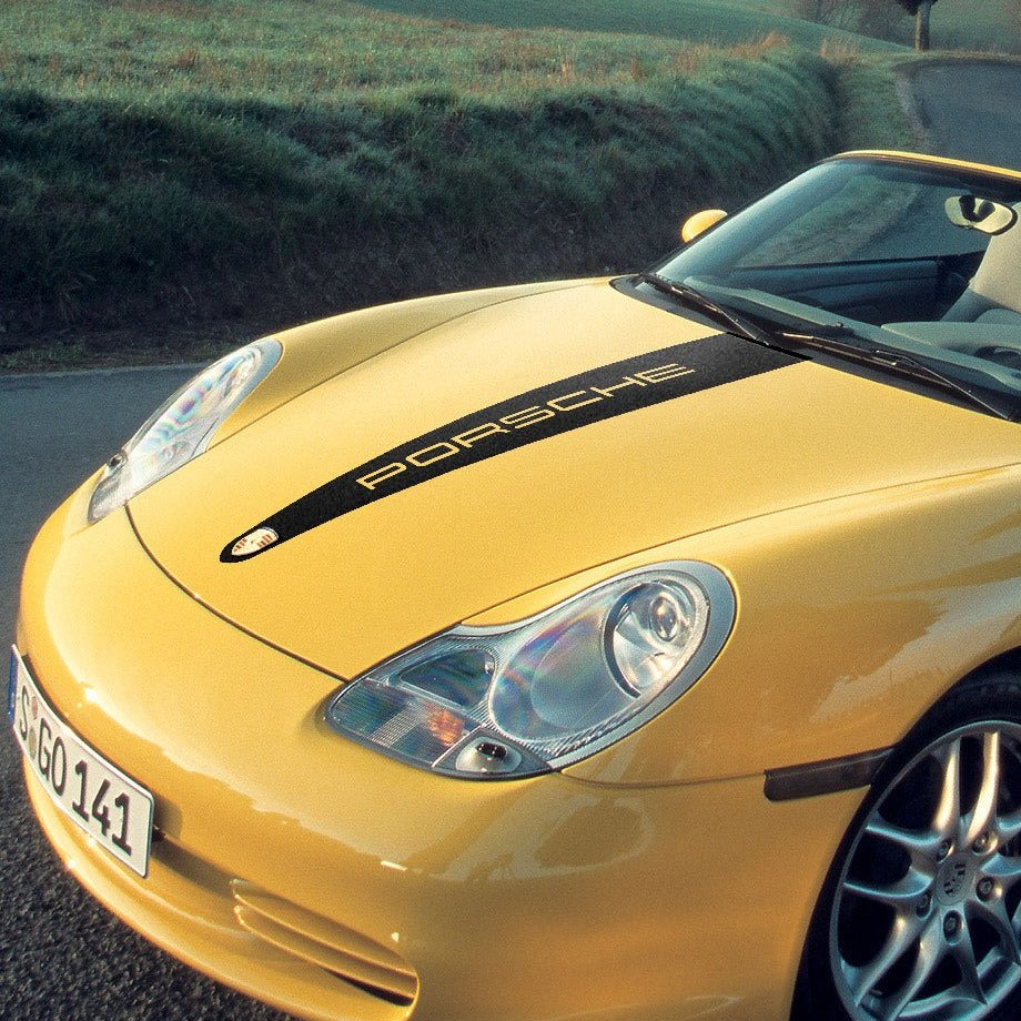 Hood graphics decal for Porsche Boxster 986