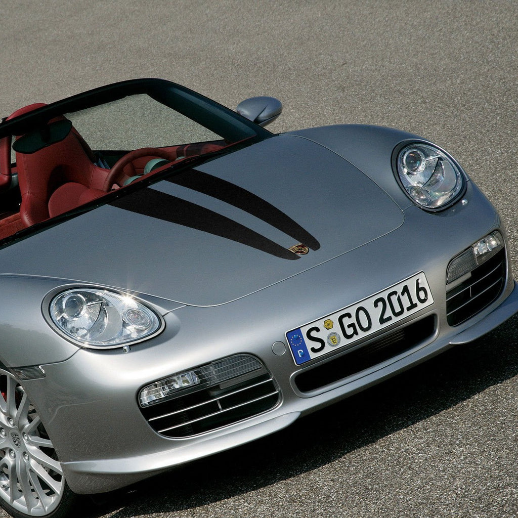 Hood graphics decal for Porsche Boxster 987