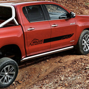 Mountains graphics side stripe decal for Toyota HILUX 2016 TRD