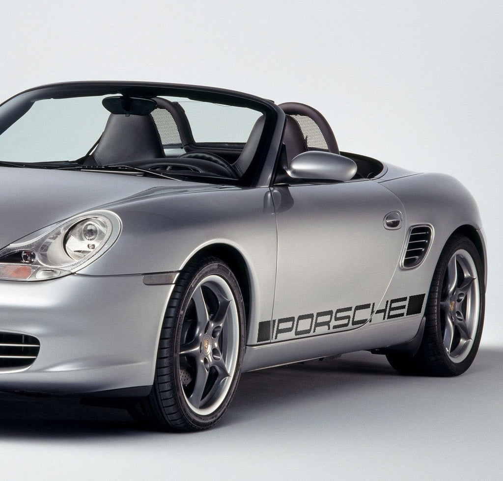 Side script decal for Porsche Boxster 986