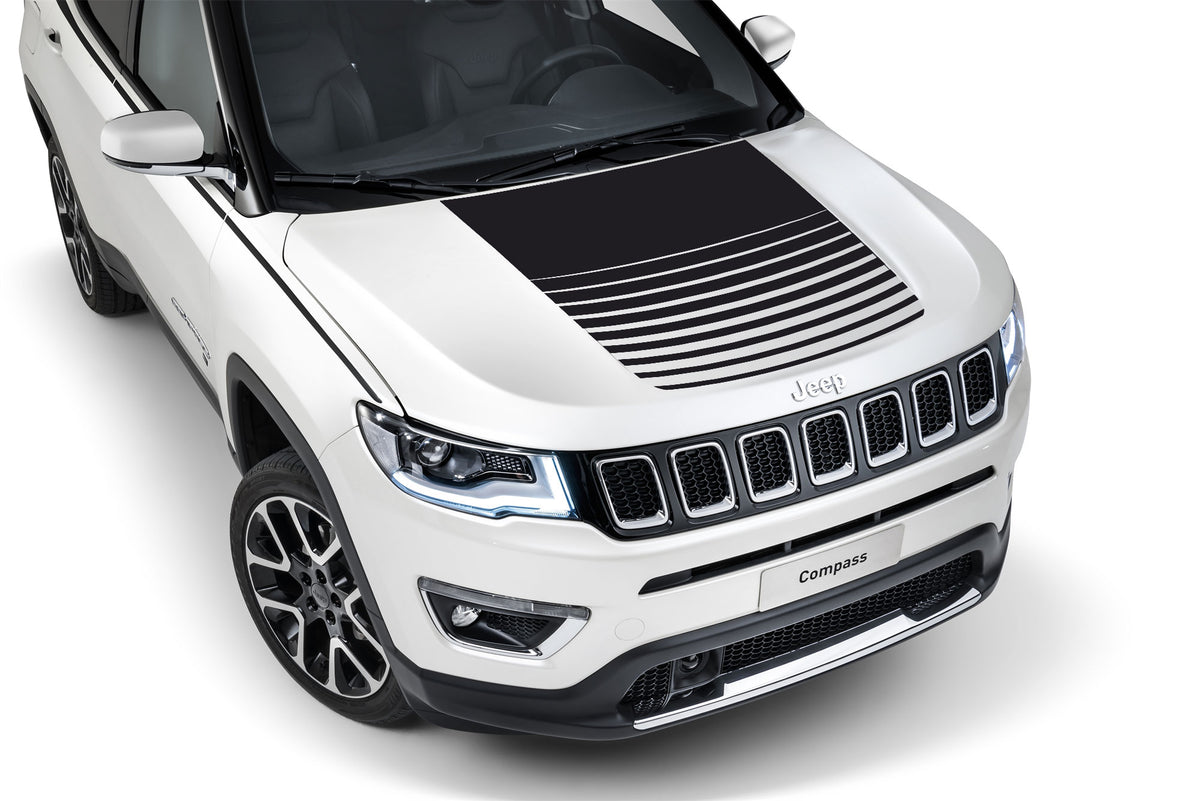 Center Hood Decal For Jeep Compass Trailhawk Hood Graphics