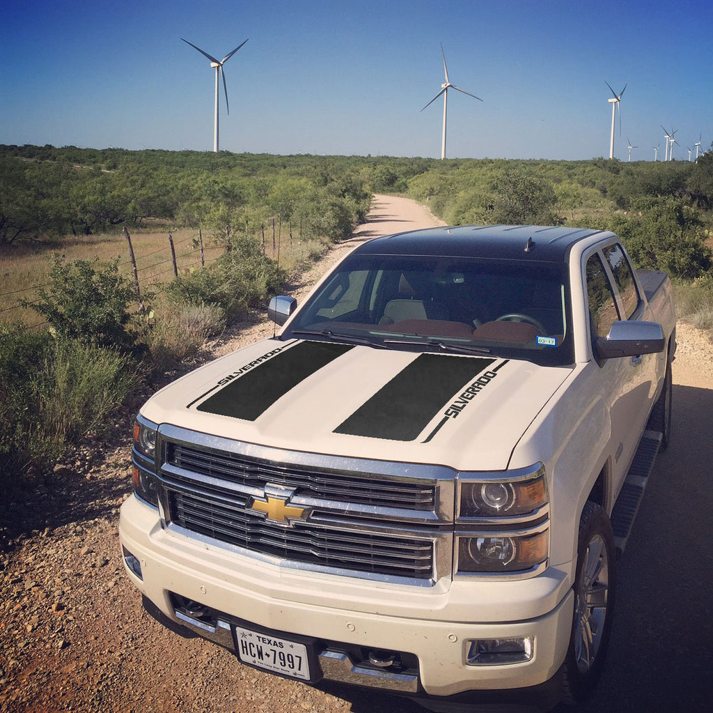 2013 2014 2015 Chevrolet Silverado Rally Edition Stripe Kit Graphics Decals