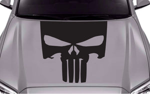 Center Hood Punisher decal for Toyota Tacoma TRD Sport Sticker Graphics