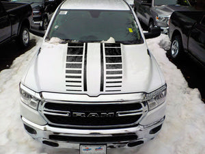 Hood Cowl graphics for Dodge RAM the all-new 2019 sticker, decals kit