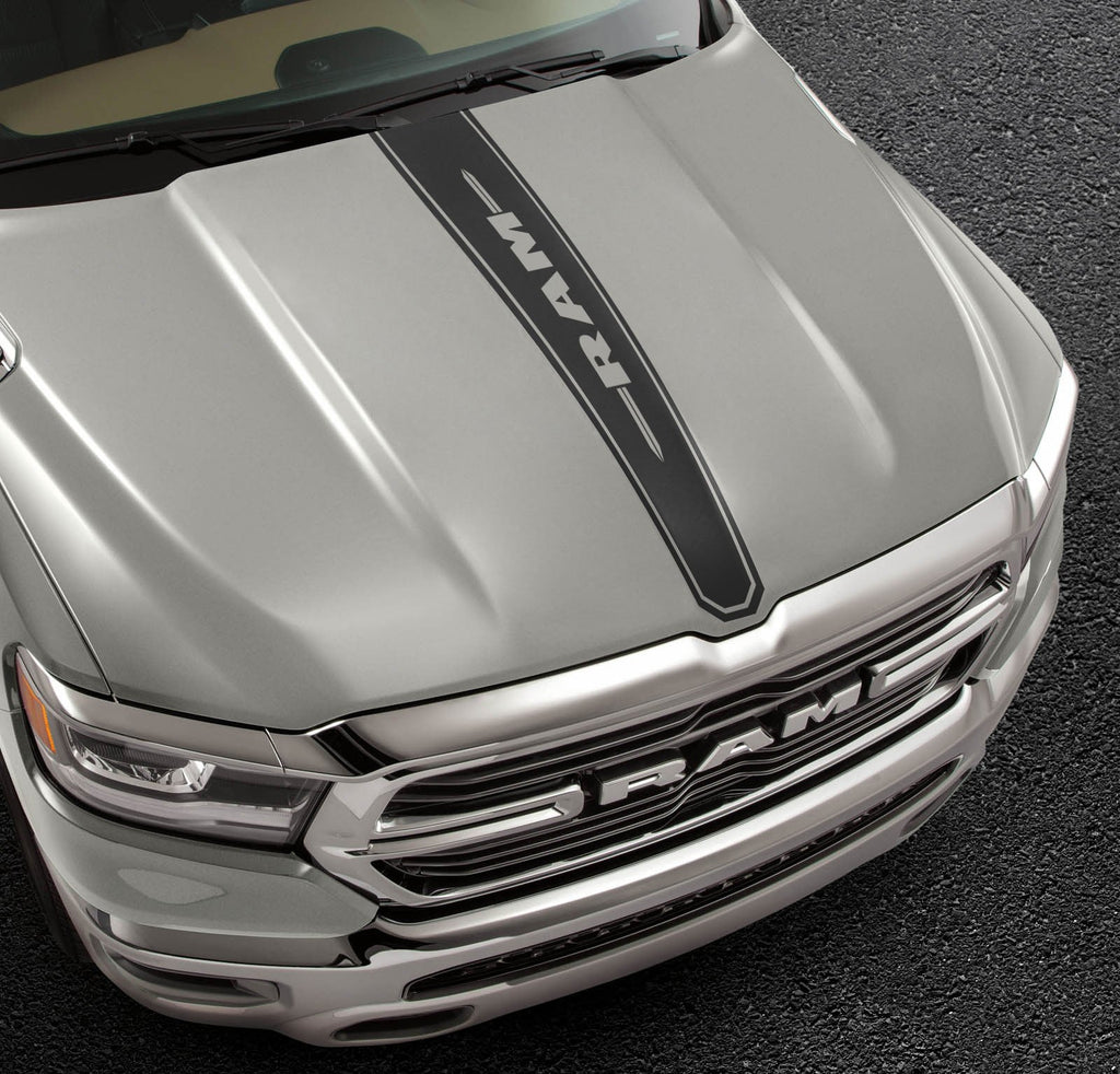 Center hood decals for Dodge RAM the all-new 2019 sticker, graphics kit