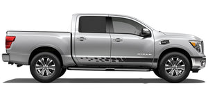 Side stripe decals for Nissan Titan rocker graphics kit
