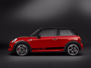 Mini Cooper 2015 F56 side stripes graphics John Cooper Works porsche style