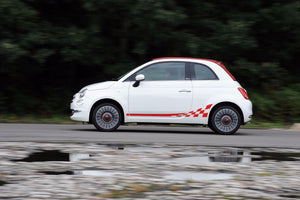 Fiat 500 ABARTH Checkered Flag Decal side Graphics stripes
