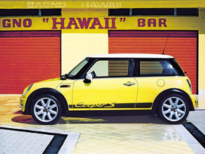 Mini Cooper R50 R53 side stripe lettering porsche style graphics decal