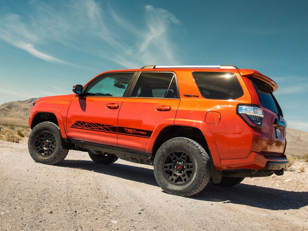 Toyota 4runner Trd Pro Style Graphics Side Stripe Decal My Cars Look Professional Vinyl Graphics And Stripes