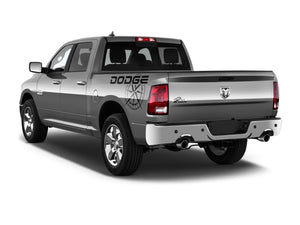 Dodge Ram mk4 1500 Rebel side bed graphics stripe decal