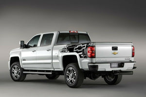 2013 2014 2015 Chevrolet Silverado side bed graphics decal black vinyl