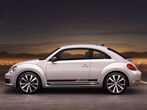 Volkswagen Beetle 2011-2018 turbo rocker Stripe Graphics Decals