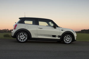 Mini Cooper S F56 2014-2018 side stripe graphics decal style 2