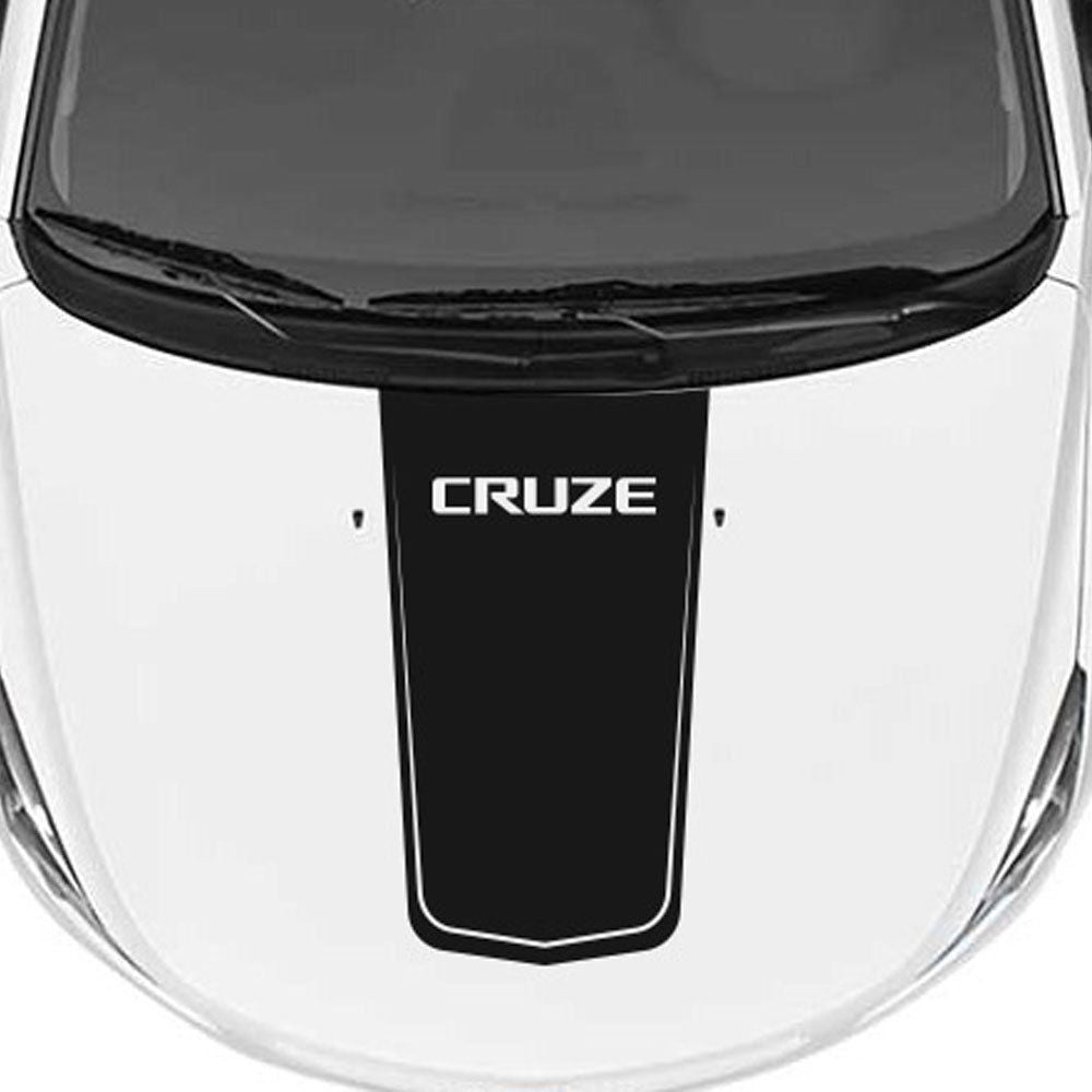 Chevrolet Chevy Cruze - Rally Racing Stripe Hood Graphic Cruze lettering