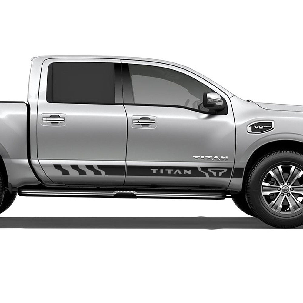 Nissan Titan Side Stripe Decal Rocker Graphics Decal Door