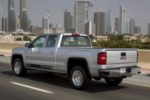 Side stripes decal for GMC Sierra door panel graphics model 2