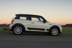Mini Cooper S F56 2014-2018 side stripe graphics decal style 1