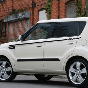 Side Rocker Panel Stripes graphics Decals for Kia Soul 2008-2013