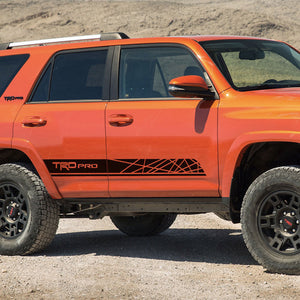 Toyota 4Runner TRD PRO style graphics side stripe decal