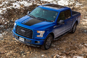 Ford F-150 2015-2018 hood logo graphics stripe decal Ford Performance