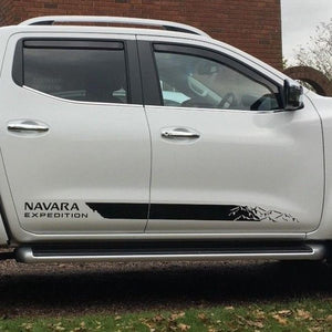 Nissan NP300 NAVARA Expedition 2016 side stripe decal graphics