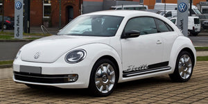 VW Volkswagen Beetle 2012-2018 side stripes Porsche Script graphics Decal