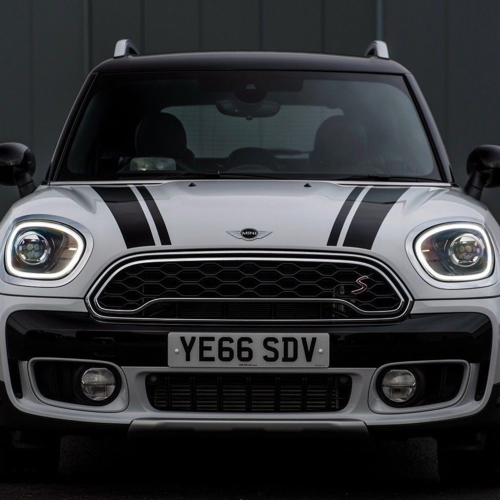 Mini BMW Cooper S Countryman F60 2017-2018 hood stripe graphics decal sticker