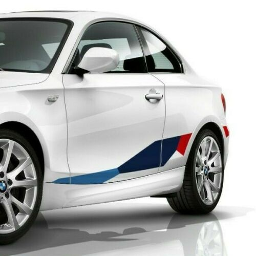 Side Stripe Graphics for BMW 1 Series E82 Coupe M Performance, sticker decals
